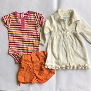 3 piece lot girls clothes